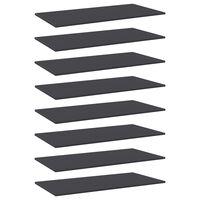 vidaXL plauktu dēļi, 8 gab., pelēki, 80x20x1,5 cm, skaidu plāksne