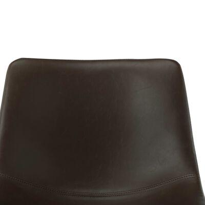 vidaXL bāra krēsli, 2 gab., tumši brūna mākslīgā āda