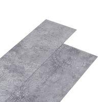 vidaXL grīdas dēļi, 5,26 m², 2 mm, cementa pelēks PVC