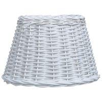 vidaXL lampas abažūrs, pīts, 45x28 cm, balts