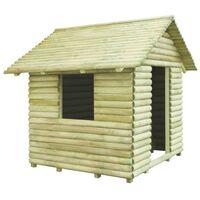 vidaXL rotaļu māja, 167x150x151 cm, impregnēts priedes koks