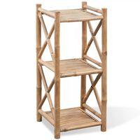 vidaXL plaukts, 3 līmeņi, bambuss