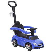 vidaXL stumjams rotaļu auto, Mercedes-Benz C63, zils