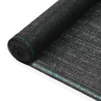 vidaXL tenisa laukuma tīkls, HDPE, 1,4x25 m, melns