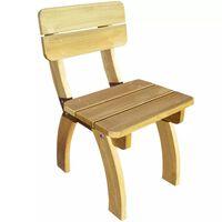 vidaXL dārza krēsls, impregnēts priedes koks