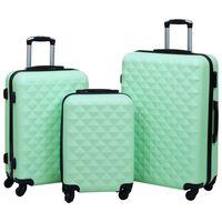 vidaXL cieto koferu komplekts, 3 gab., ABS, piparmētru zaļi