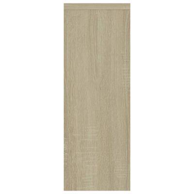 vidaXL sienas plaukts, ozolkoka krāsa, 45,1x16x45,1 cm, skaidu plāksne