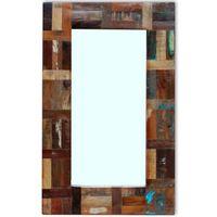 vidaXL spogulis, pārstrādāts masīvkoks, 80x50 cm