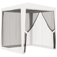 vidaXL svinību telts ar 4 sieta sienām, 2x2 m, balta