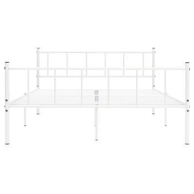 vidaXL gultas rāmis, balts metāls, 200x200 cm