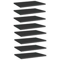 vidaXL plauktu dēļi, 8 gab., spīdīgi melni, 40x30x1,5cm, skaidu plātne
