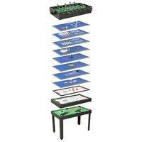 vidaXL spēļu galds, 15 spēles, 121x61x82 cm, melns