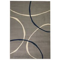 vidaXL paklājs, 80x150 cm, moderns apļu raksts, pelēks