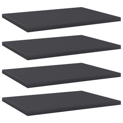 vidaXL plauktu dēļi, 4 gab., pelēki, 40x30x1,5 cm, skaidu plāksne