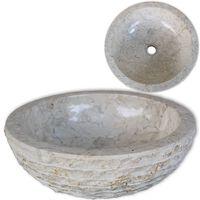 vidaXL krēmkrāsas marmora izlietne, 40 cm