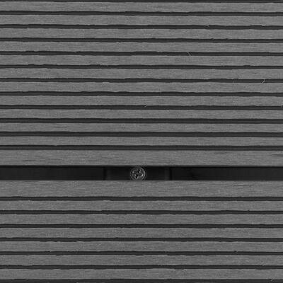 vidaXL āra dušas pamatne, pelēka, 80x62 cm, WPC, nerūsējošs tērauds