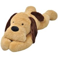 vidaXL rotaļu suns, brūns plīšs, 160 cm