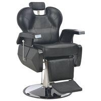 vidaXL frizieru krēsls, 72x68x98 cm, melna mākslīgā āda