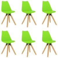vidaXL virtuves krēsli, 6 gab., zaļi