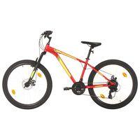 vidaXL kalnu velosipēds, 21 ātrums, 27,5'', 38 cm, sarkans