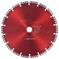 vidaXL dimanta griešanas disks, ar turbo, tērauds, 230 mm