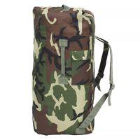 vidaXL ceļojuma soma, armijas stils, 85 L, kamuflāža