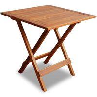 vidaXL bistro galds, 46x46x47 cm, akācijas masīvkoks