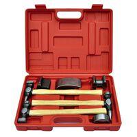 vidaXL baulēšanas āmuru un iespiedumu labošanas komplekts, 7 gab.