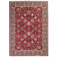 vidaXL austrumniecisks paklājs, 160x230 cm, sarkans ar bēšu