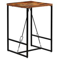 vidaXL bāra galds, 70x70x106 cm, pārstrādāts masīvkoks