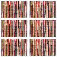 vidaXL Chindi galda paliktņi, 6 gab,. krāsaini, 30x45 cm, kokvilna