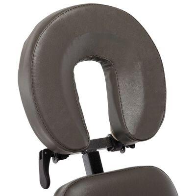 vidaXL masāžas krēsls, 122x81x48 cm, antracītpelēka mākslīgā āda