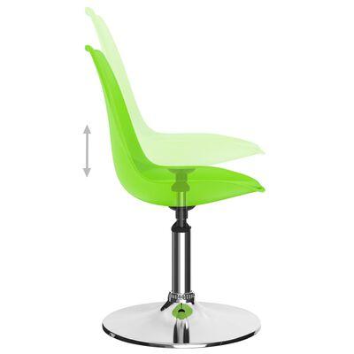 vidaXL grozāmi virtuves krēsli, 4 gab., zaļa mākslīgā āda