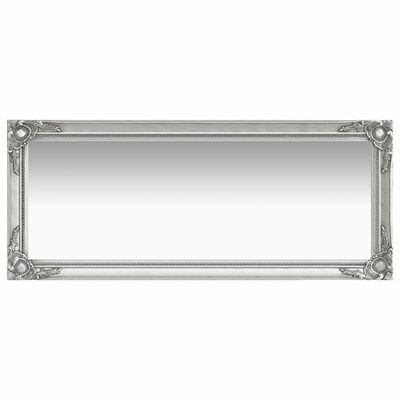 vidaXL baroka stila sienas spogulis, 50x120 cm, sudraba krāsā