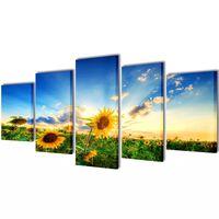 Modulārā Foto Glezna Saulespuķe 100 x 50 cm