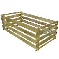 vidaXL komposta kaste, 160x80x58 cm, impregnēta priedes koka dēļi