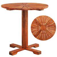 vidaXL bistro galds, 70x70 cm, akācijas masīvkoks