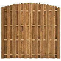 vidaXL žoga panelis, priedes koks, 180x(155-170) cm