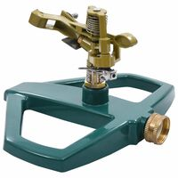 vidaXL rotējošs laistītājs, zaļš, 21x22x13 cm, metāls