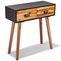 vidaXL konsoles galdiņš, 70x30x75 cm, akācijas masīvkoks