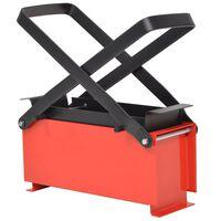vidaXL papīra brikešu prese, tērauds, 34x14x14 cm, melna un sarkana