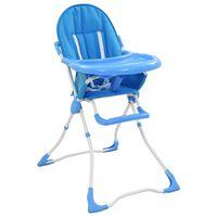 vidaXL bērnu barošanas krēsls, zils ar baltu