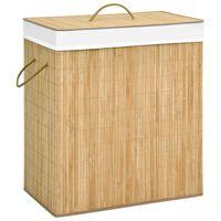 vidaXL veļas grozs, bambuss, 100 L