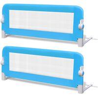 vidaXL bērnu gultas aizsargbarjeras, 2 gab., zilas, 102x42 cm