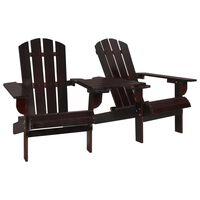 vidaXL dārza krēsls, egles masīvkoks, brūns