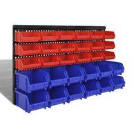 Plastmasas kastes garāžai stiprināmas pie sienas 30 gab.