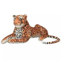 vidaXL rotaļu leopards, XXL, brūns plīšs