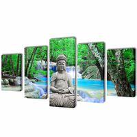 """Modulārā Foto Glezna """"Buddha"""" 100 x 50 cm"""