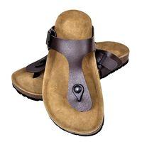 vidaXL sieviešu sandales ar korķa zoli, brūnas, 41. izmērs
