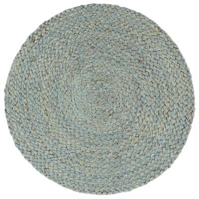 vidaXL galda paliktņi, 6 gab., 38 cm, apaļi, olīvu zaļa džuta